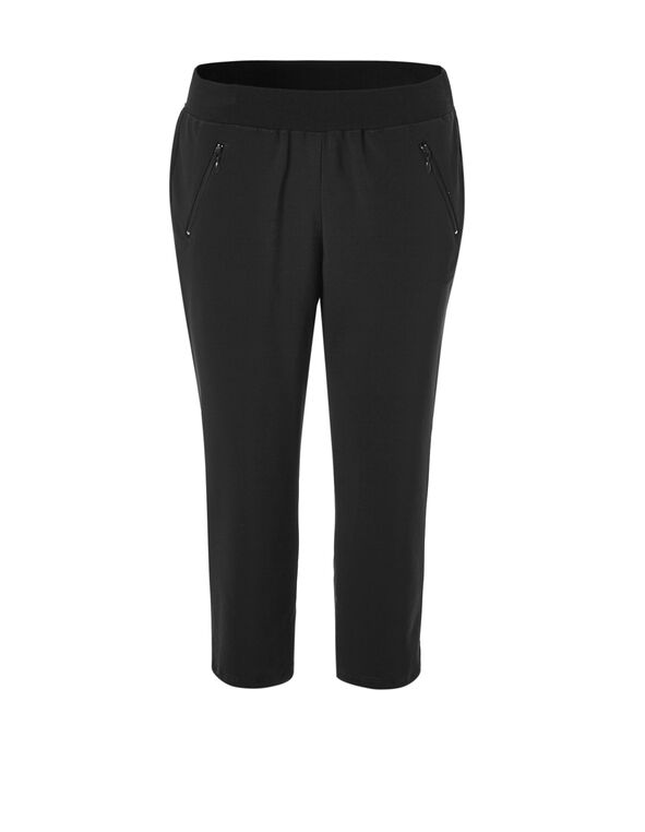 Black Soft Tulip Hem Capri, Black, hi-res