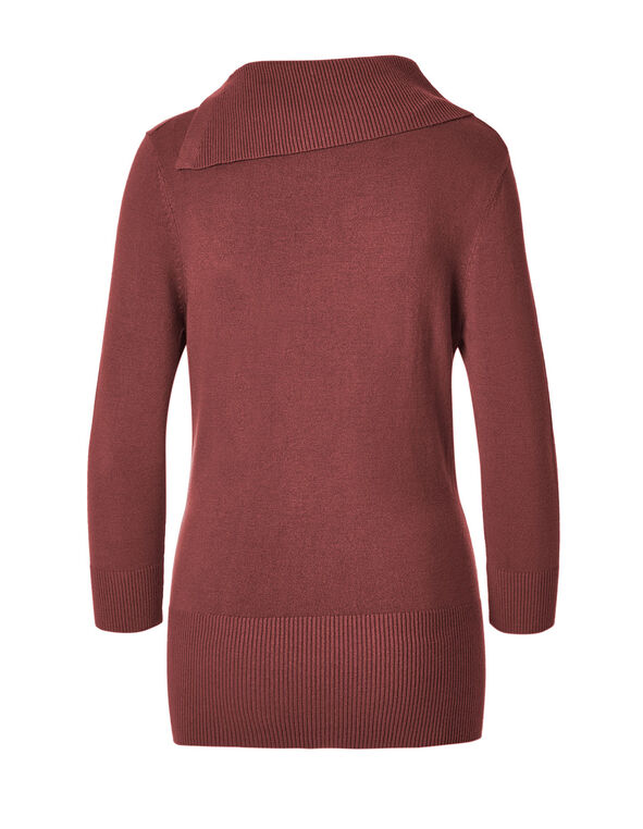 Chili Split Neck Sweater, Chili, hi-res