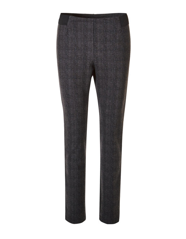 Plaid Houndstooth Legging, Black/Grey, hi-res
