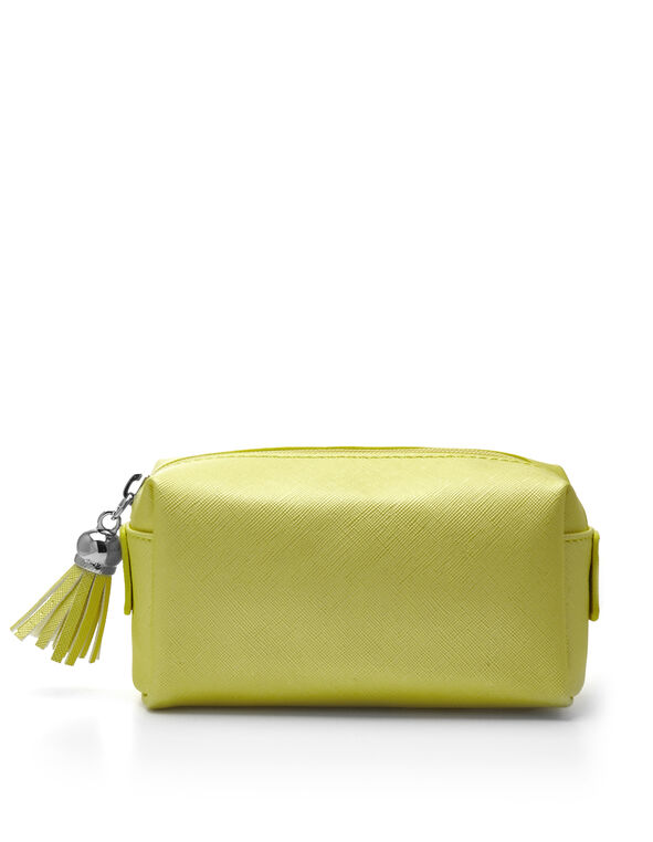 Yellow Cosmetic Case, Yellow, hi-res