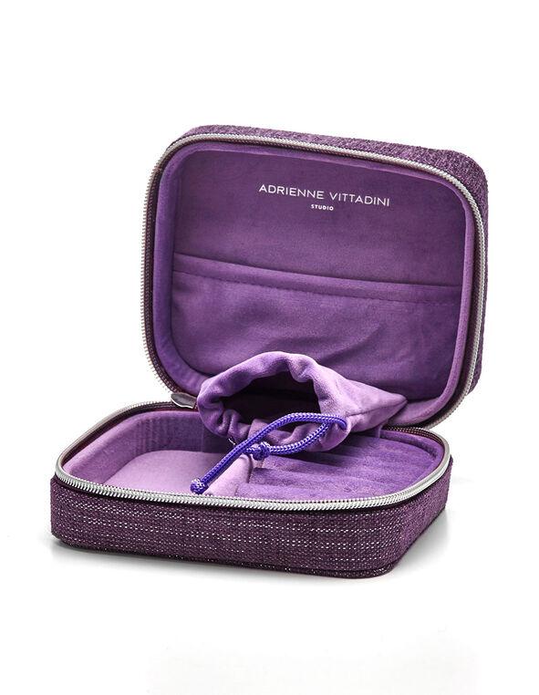Purple Travel Jewellery Case, Purple, hi-res