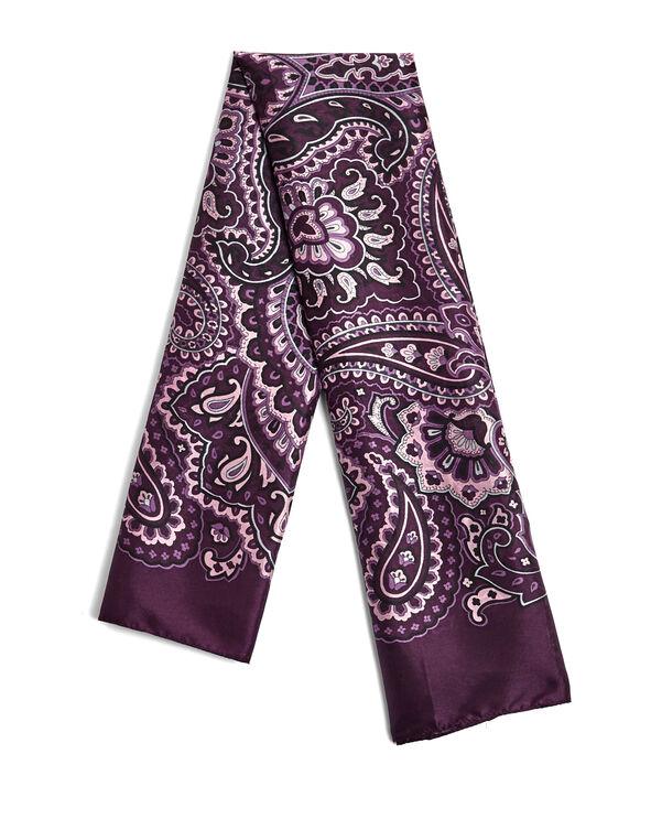 Purple Paisley Square Scarf, Deep Plum/Dusty Pink/Blue Cloud, hi-res
