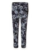 Floral Ankle Pullon Pant, Black/White, hi-res