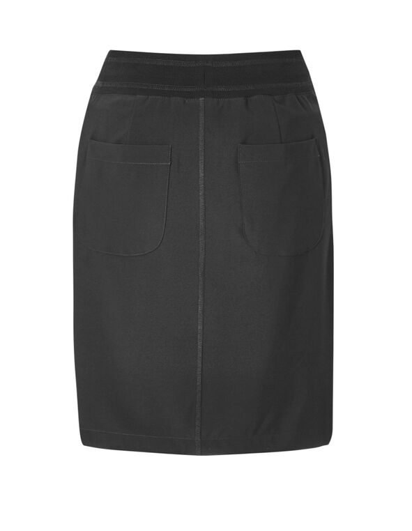 Black Soft Skirt, Black, hi-res