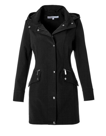 Black Transitional Jacket, Black, hi-res