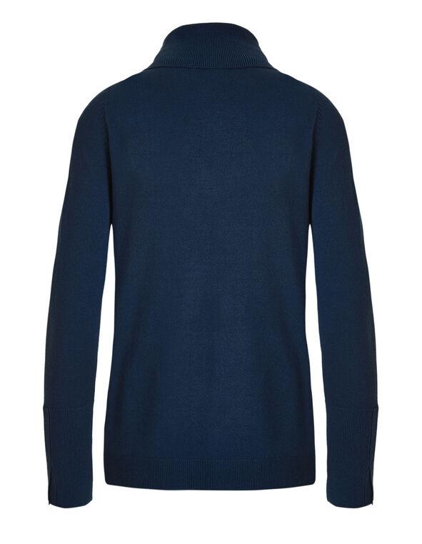 Navy Turtleneck Sweater, Navy, hi-res