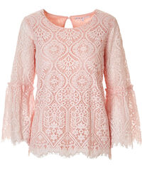 Seashell Pink Lace Top