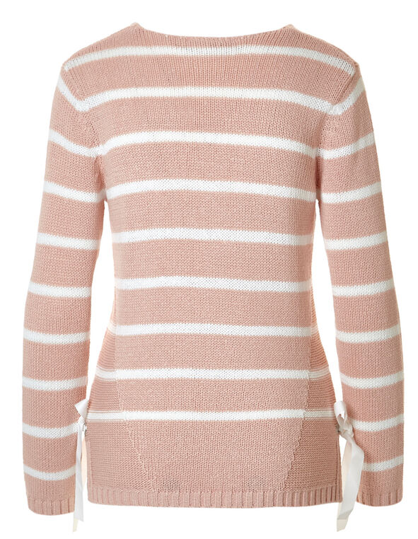 Seashell Pink Side Gommet Sweater, Seashell Pink, hi-res