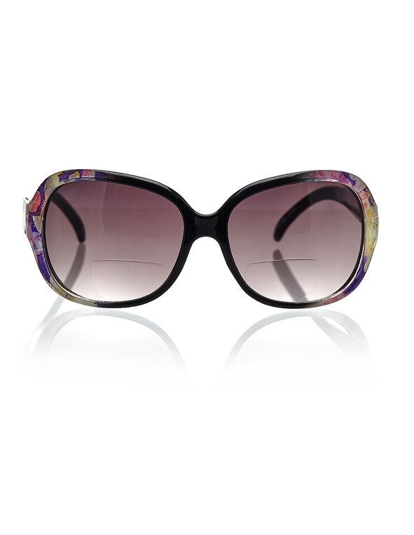 Purple Floral Sunreader, Purple, hi-res