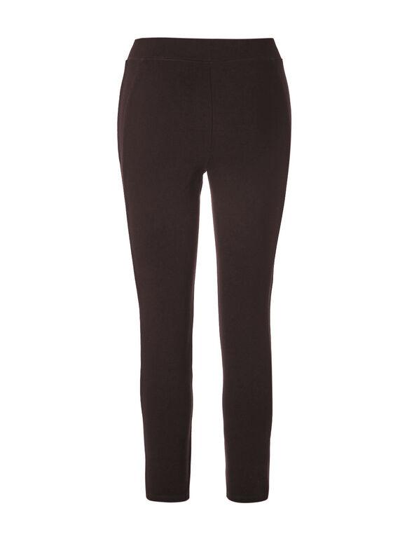 Long Brown Comfort Stretch Legging, Brown, hi-res