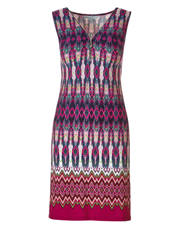 Pink Zipper Front Dress, Pink, hi-res