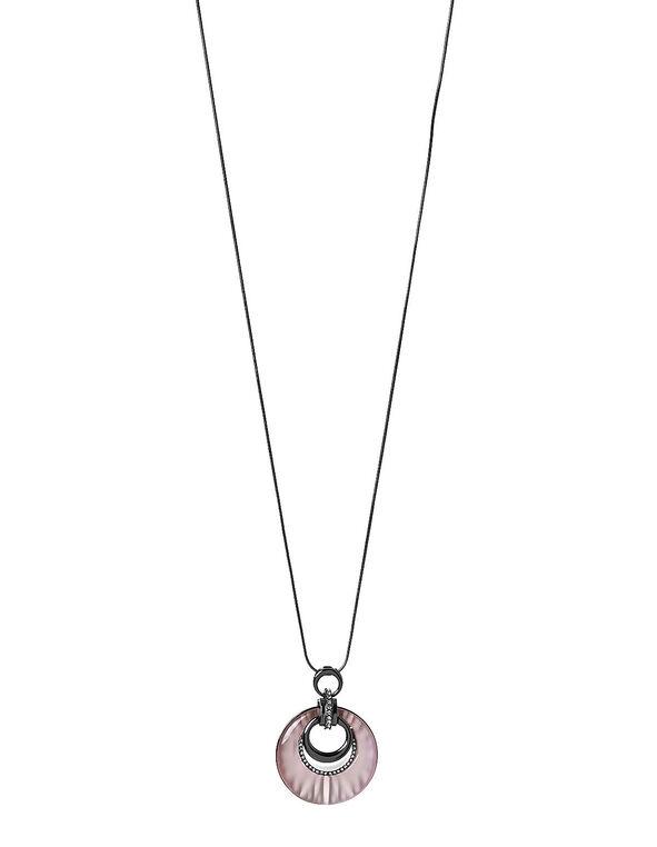 Pink Cat Eye Necklace, Pink, hi-res