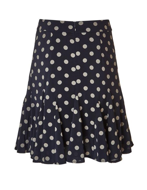 Navy Chiffon Flippy Skirt, Navy/Mushroom, hi-res
