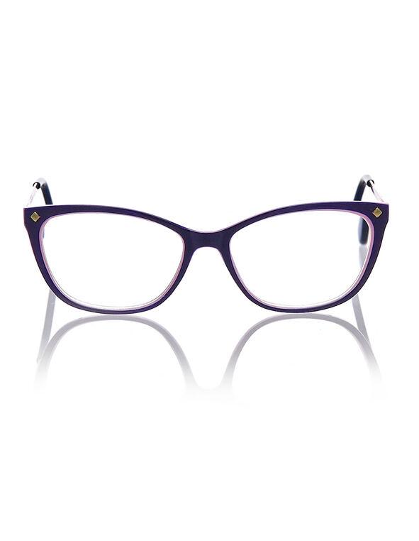 Purple Cat Eye Reader, Purple, hi-res