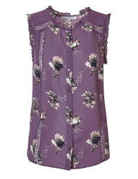 Orchid Floral Ruffle Blouse