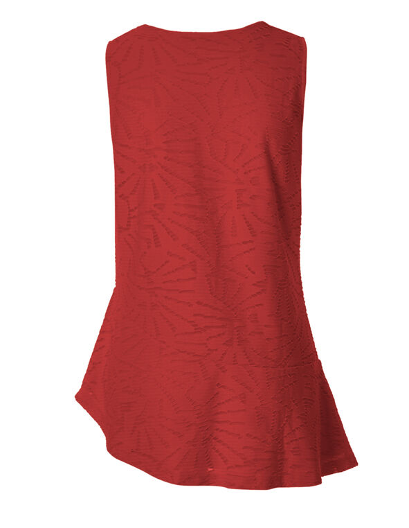 Red Asymmetrical Popover Top, Red, hi-res