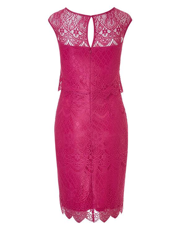 Pink Lace Sheath Dress, Pink, hi-res