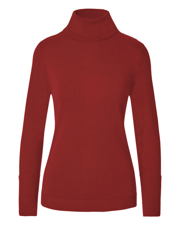 Winter Red Turtleneck Sweater, Winter Red, hi-res