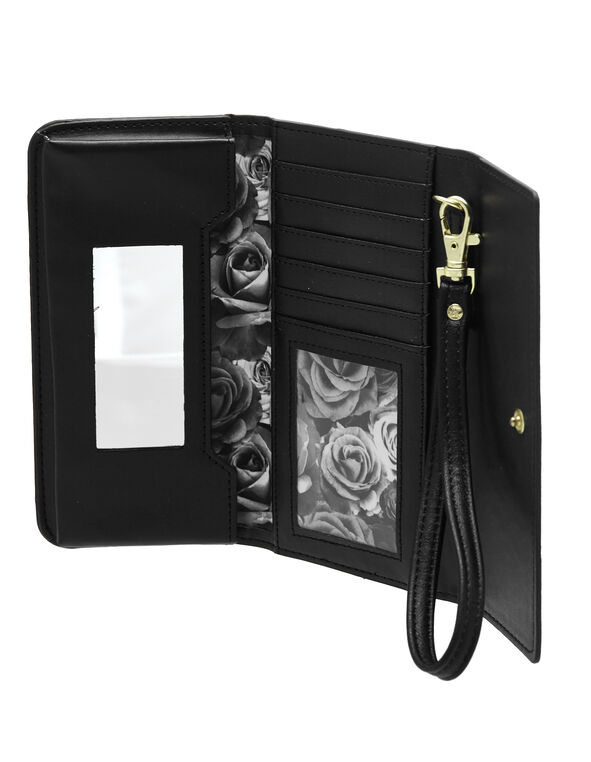 Black Phone Wallet, Black, hi-res