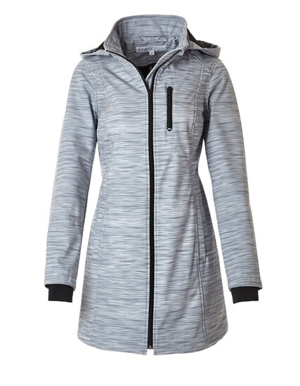 Grey Soft Shell Active Coat, Grey Print, hi-res