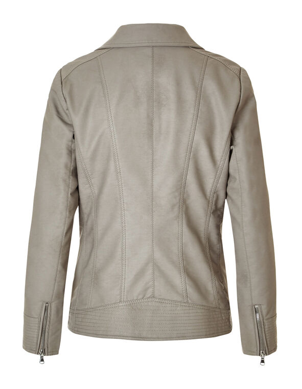 Latte Moto Faux Leather Jacket, Latte, hi-res