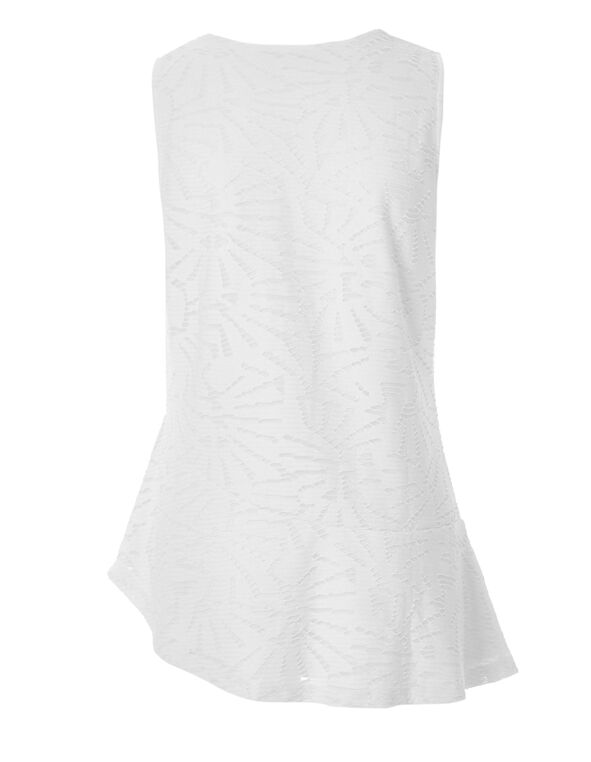 White Asymmetrical Popover Top, White, hi-res