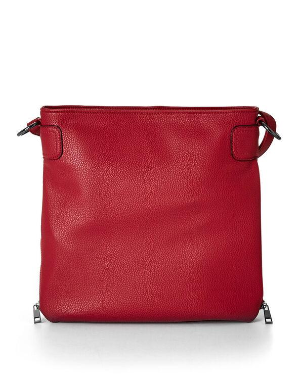 Red Adjustable Crossbody Bag, Red, hi-res
