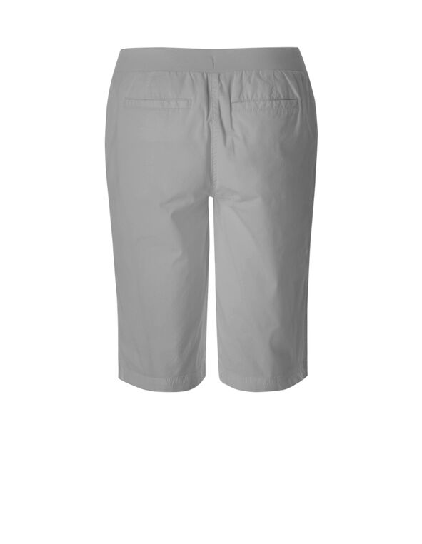 Grey Poplin Short, Grey, hi-res