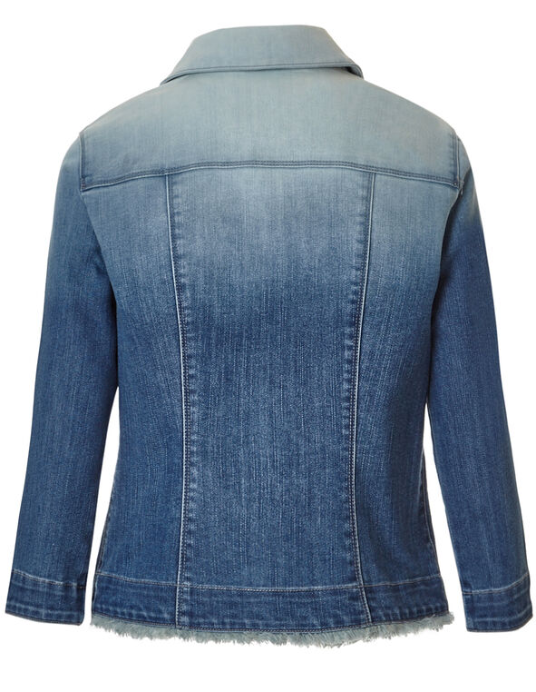 Navy Dip Dye Denim Jacket, Navy Dip Dye, hi-res