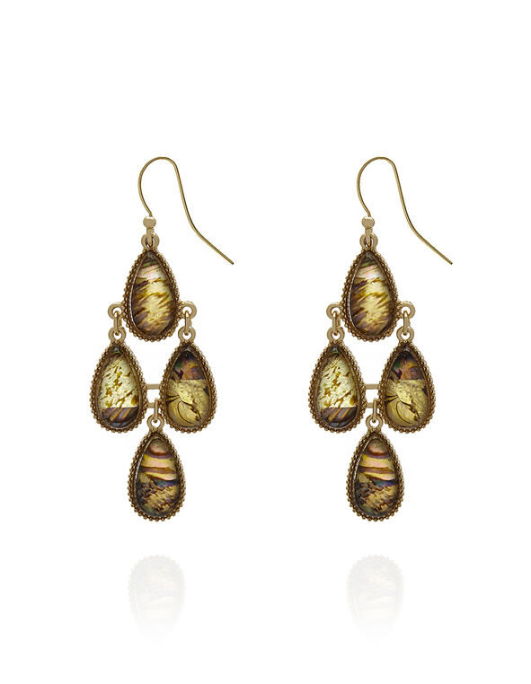 Abalone Shell Chandelier Earring, Green, hi-res