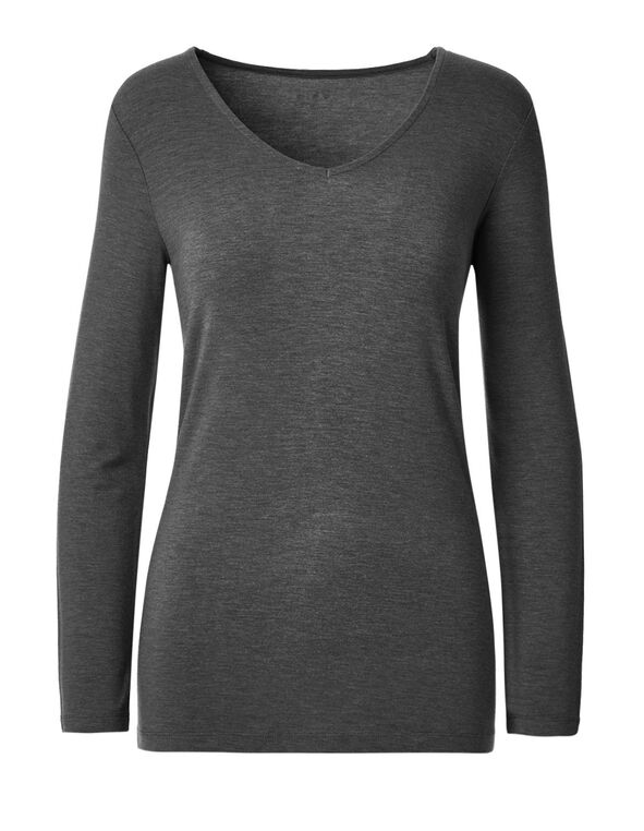 Charcoal Long Sleeve Tee, Charcoal, hi-res