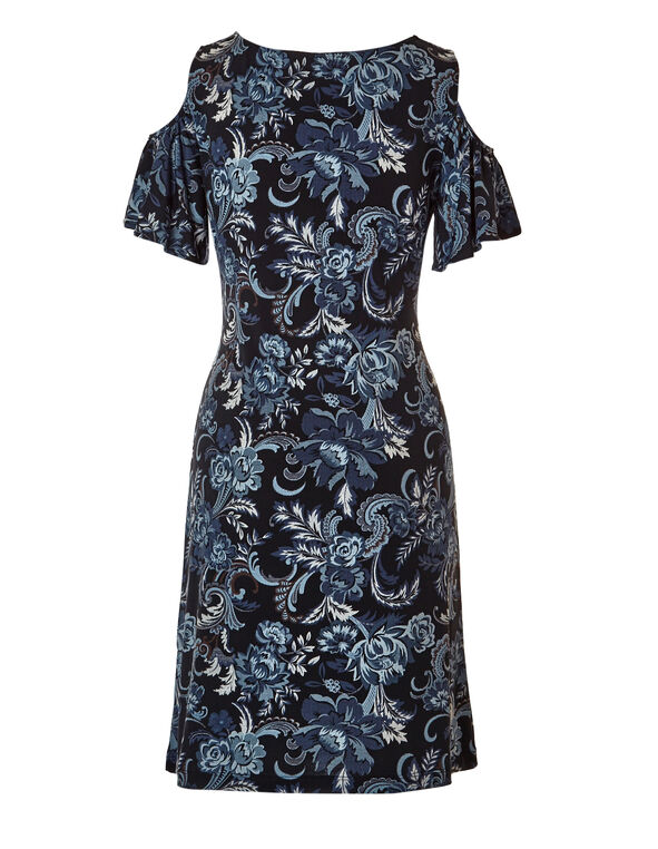 Blue Denim Floral Dress, Navy/Blue Cloud/Denim/White, hi-res