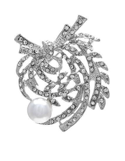 Pearl Floral Pin, Pearl, hi-res