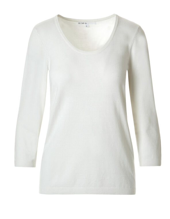 Ivory Pullover Sweater, Ivory, hi-res
