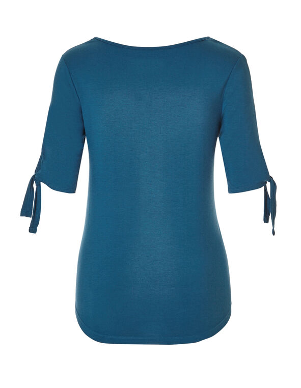 Dark Turquoise Sleeve Tie Tee, Dark Turquoise, hi-res