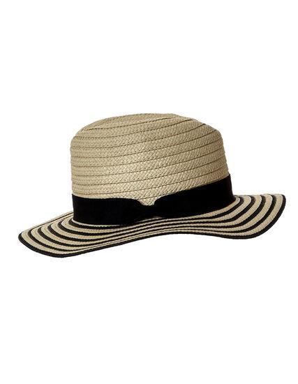 Black Sun Hat, Natural/Black, hi-res