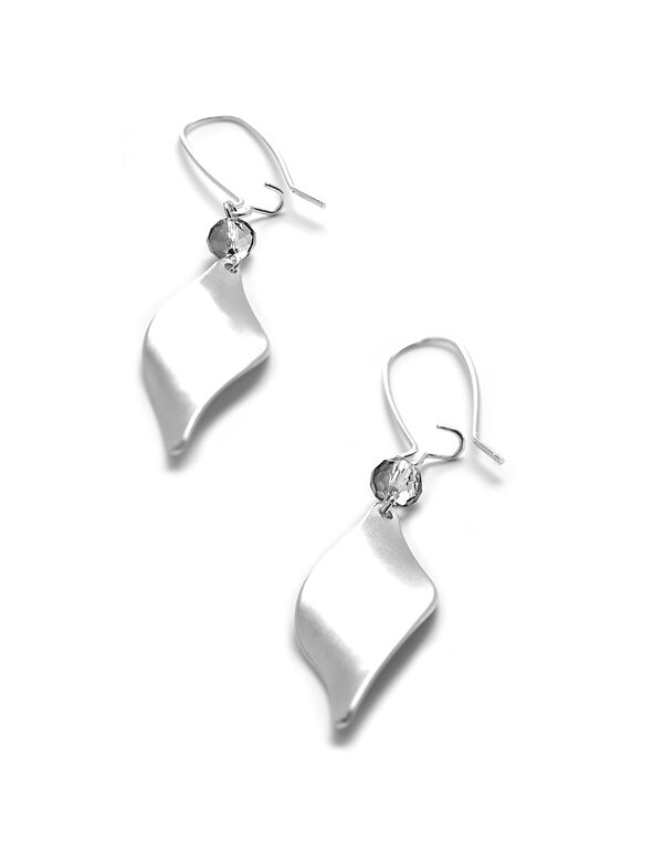 Silver Twist Earring, Silver, hi-res