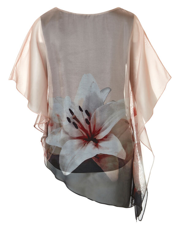 Seashell Floral Caftan Blouse, Seashell Floral, hi-res