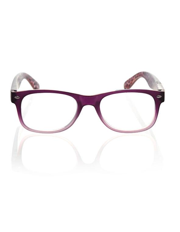 Purple Matte Animal Print Reader, Purple, hi-res