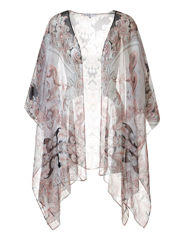 Light Apricot Kimono Cover Up, Light Apricot, hi-res
