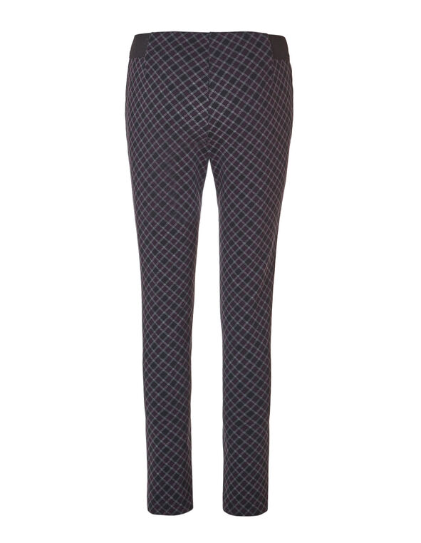 Plum Plaid Legging, Black/Plum/Grey, hi-res