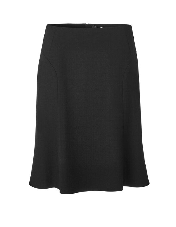 Black Flippy Skirt, Black, hi-res