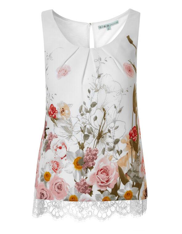 Garden Floral Lace Blouse, Garden Floral, hi-res