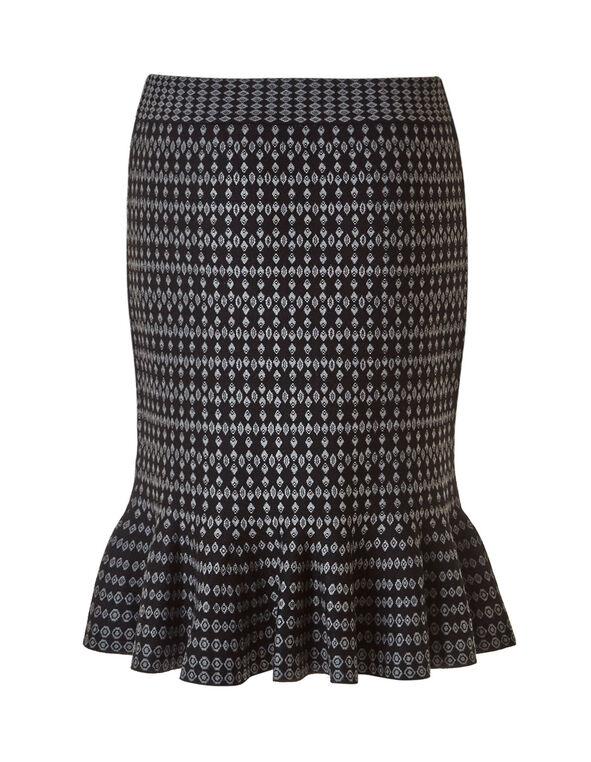 Black Sweater Skirt, Black, hi-res