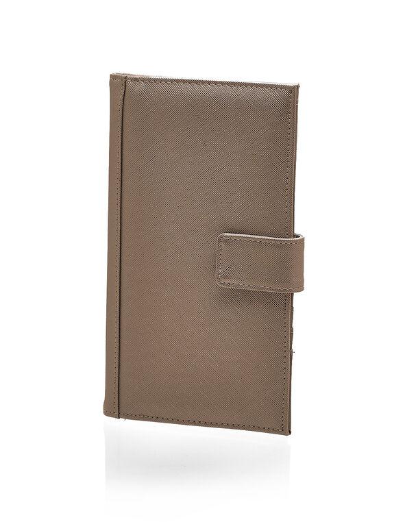 Gold Metallic Travel Wallet, Gold, hi-res