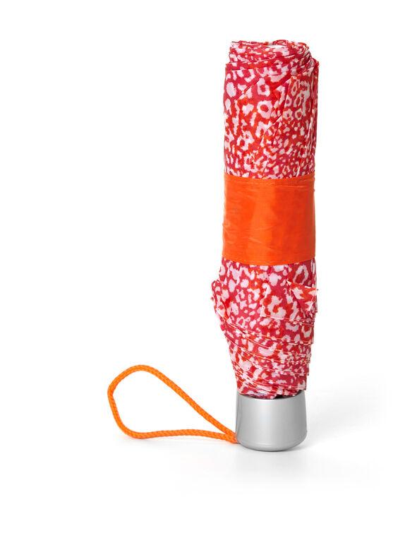 Orange Leopard Umbrella, Orange, hi-res