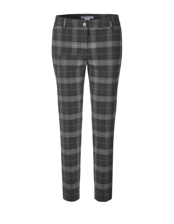Grey Plaid Ankle Pant, Grey Plaid, hi-res