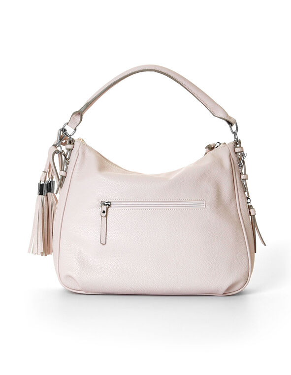 Neutral Expandable Purse With Tassels, Blush, hi-res