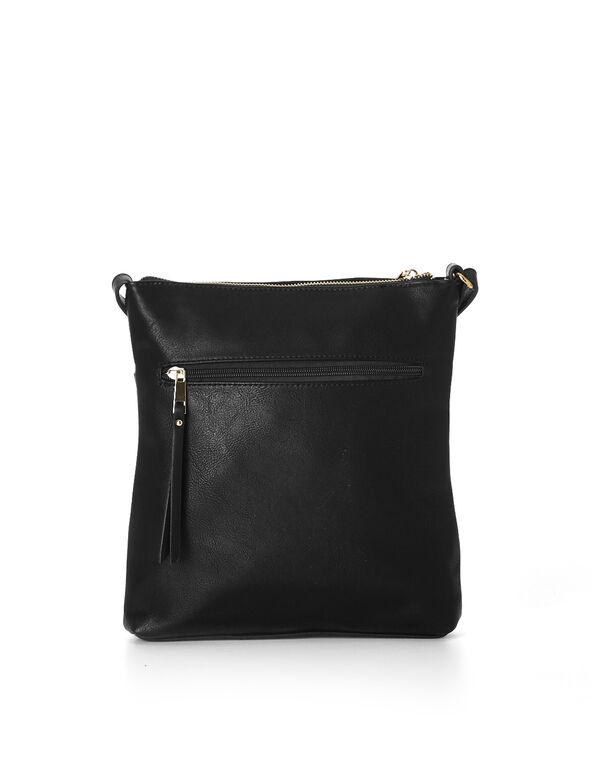 Black Crossbody Bag, Black, hi-res