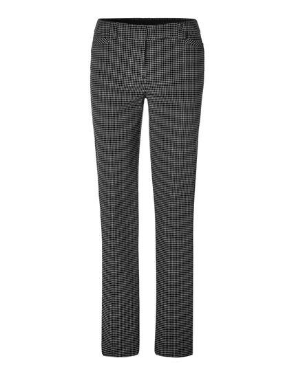 Windowpane Trouser Pant, Black/Ivory, hi-res